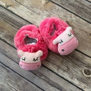 Cow baby shoes 0-6 mos